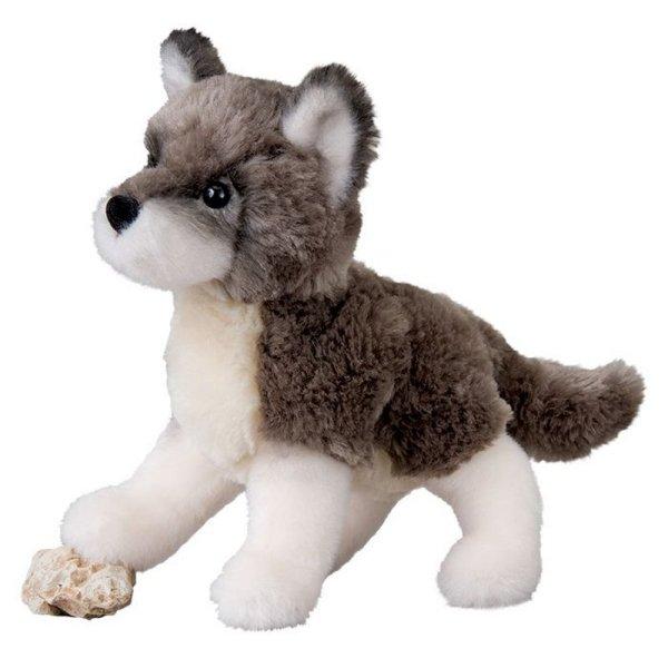 douglas ashes wolf plush toy 7 5 stuffed animal soft child gray grey timber new ebay. Black Bedroom Furniture Sets. Home Design Ideas
