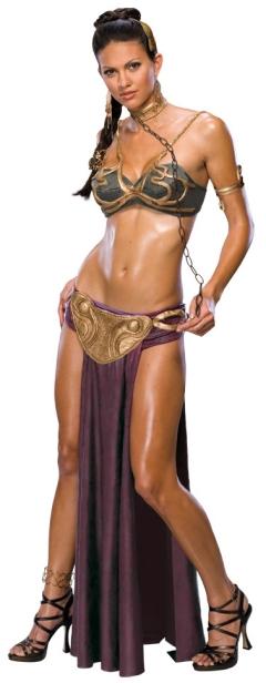 PRINCESS LEIA SLAVE COSTUME Outfit Adult Medium Sexy STAR WARS ...