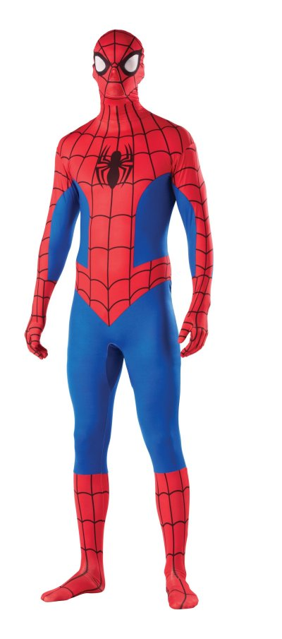 SPIDER-MAN 2ND SKIN FULL BODY SUIT XL Spiderman Jumpsuit Zentai Adult ...