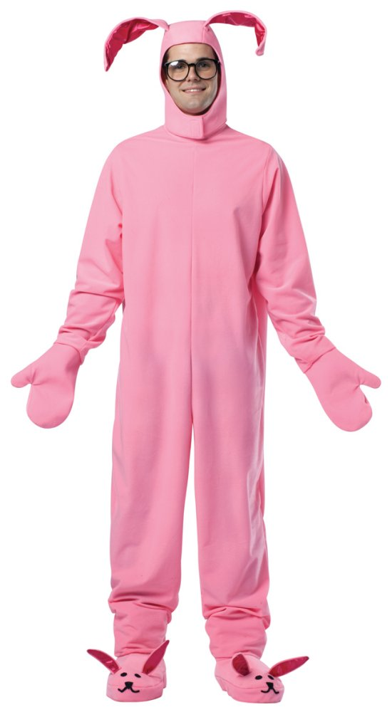 a christmas story adult bunny suit costume