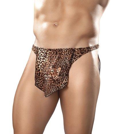 Male Power Tarzan Thong Loin Cloth Leopard Animal Print